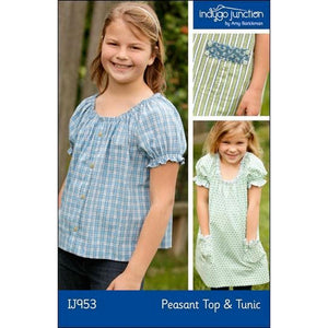 "INDYGO JUNCTION ""PEASANT TOP & TUNIC"" Sewing Pattern"
