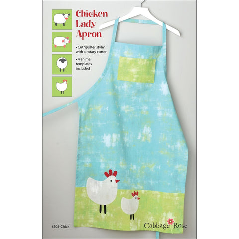 "CABBAGE ROSE ""CHICKEN LADY APRON"" Sewing Pattern"