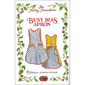 "THE PAISLEY PINCUSHION ""BUSY BIAS APRON"" Sewing Pattern"