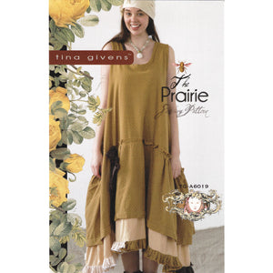 "TINA GIVENS ""PRAIRIE SLIP DRESS"" Sewing Pattern"