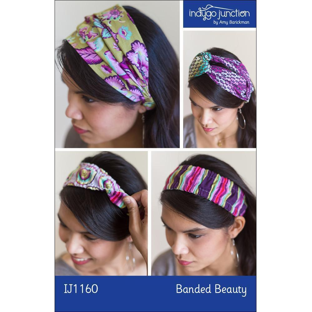 "INDYGO JUNCTION ""BANDED BEAUTY IJ1160 HEADBAND"" Sewing Pattern"