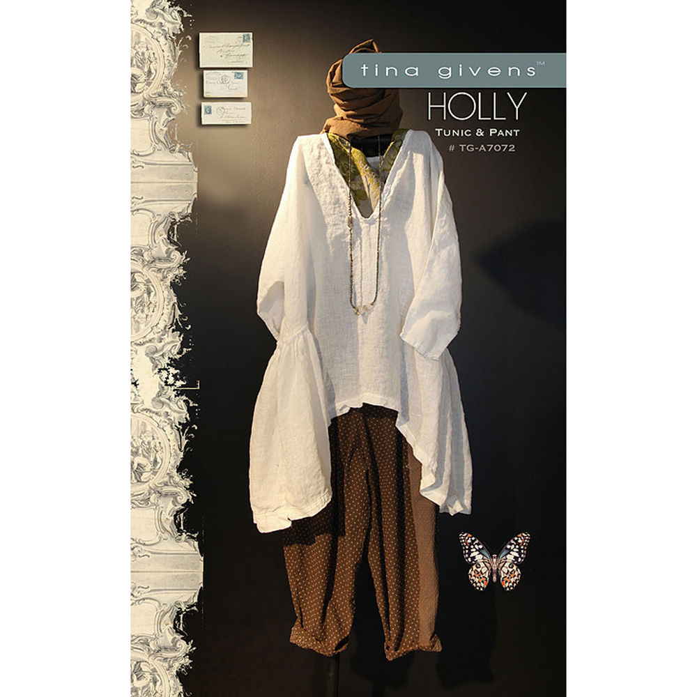 "TINA GIVENS ""HOLLY EASY TUNIC & PANTS"" Sewing Pattern"