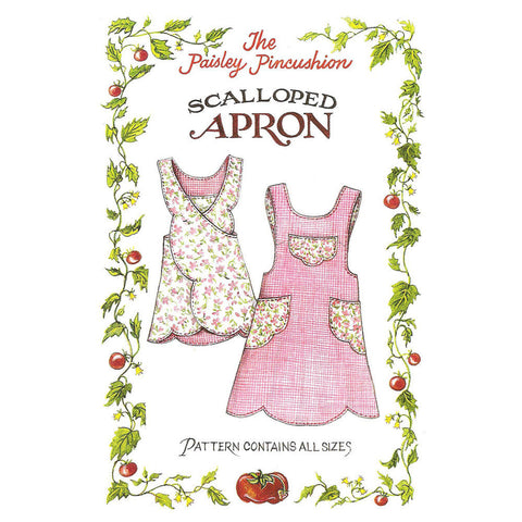 "THE PAISLEY PINCUSHION ""SCALLOPED APRON"" Sewing Pattern"