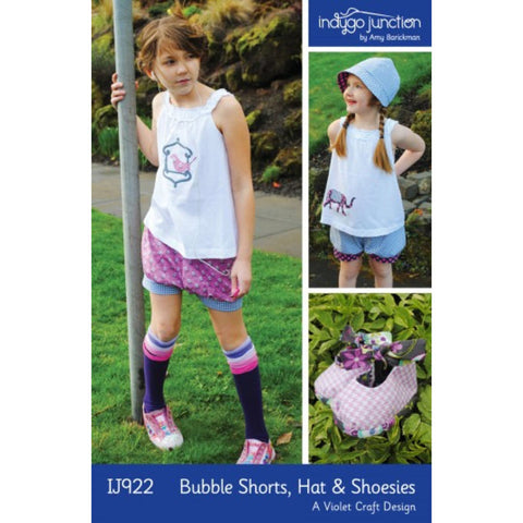"INDYGO JUNCTION ""BUBBLE SHORTS, HAT & SHOESIES"" Sewing Pattern"