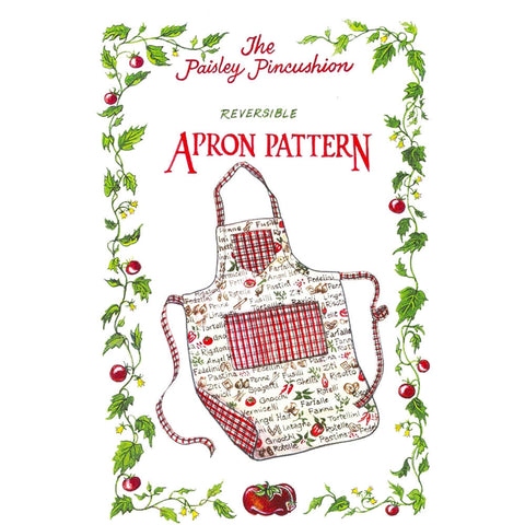 "THE PAISLEY PINCUSHION ""REVERSIBLE APRON"" Sewing Pattern"