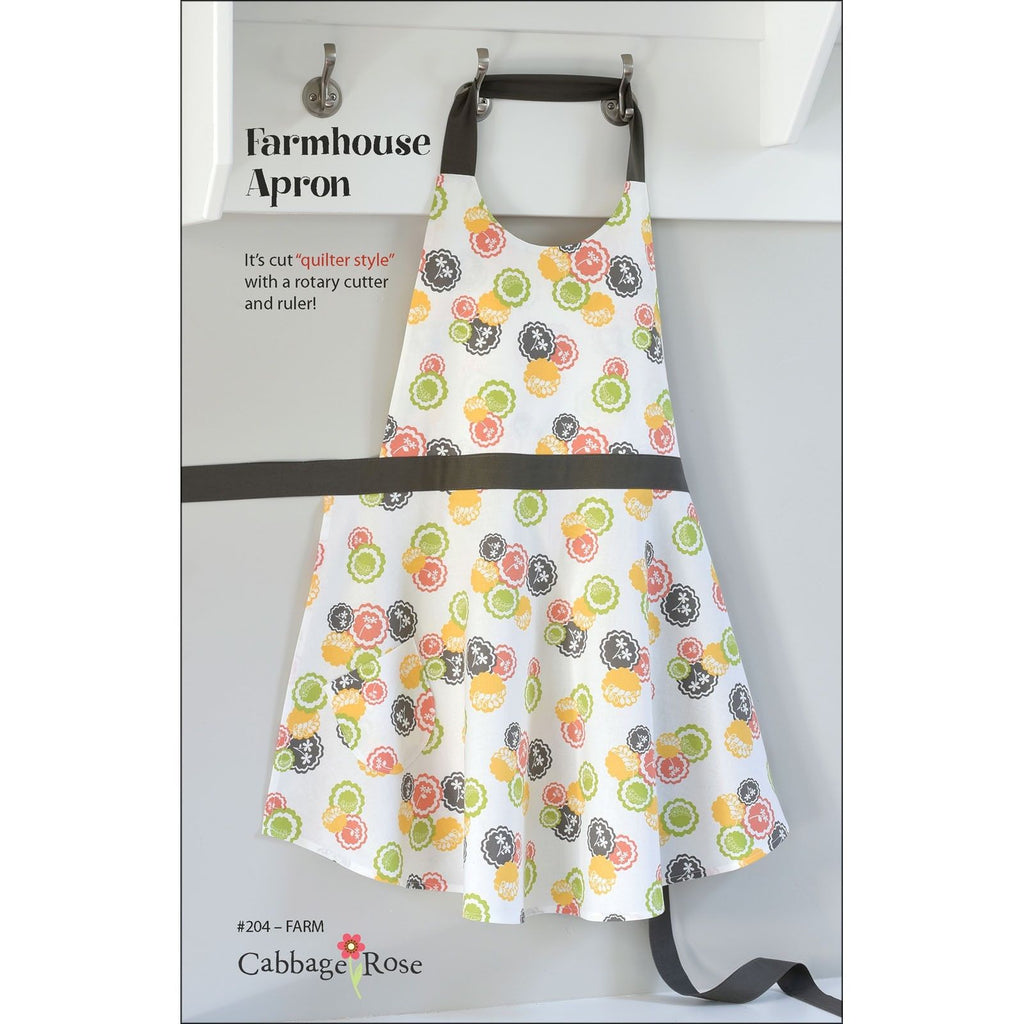 "CABBAGE ROSE ""FARMHOUSE APRON"" Sewing Pattern"