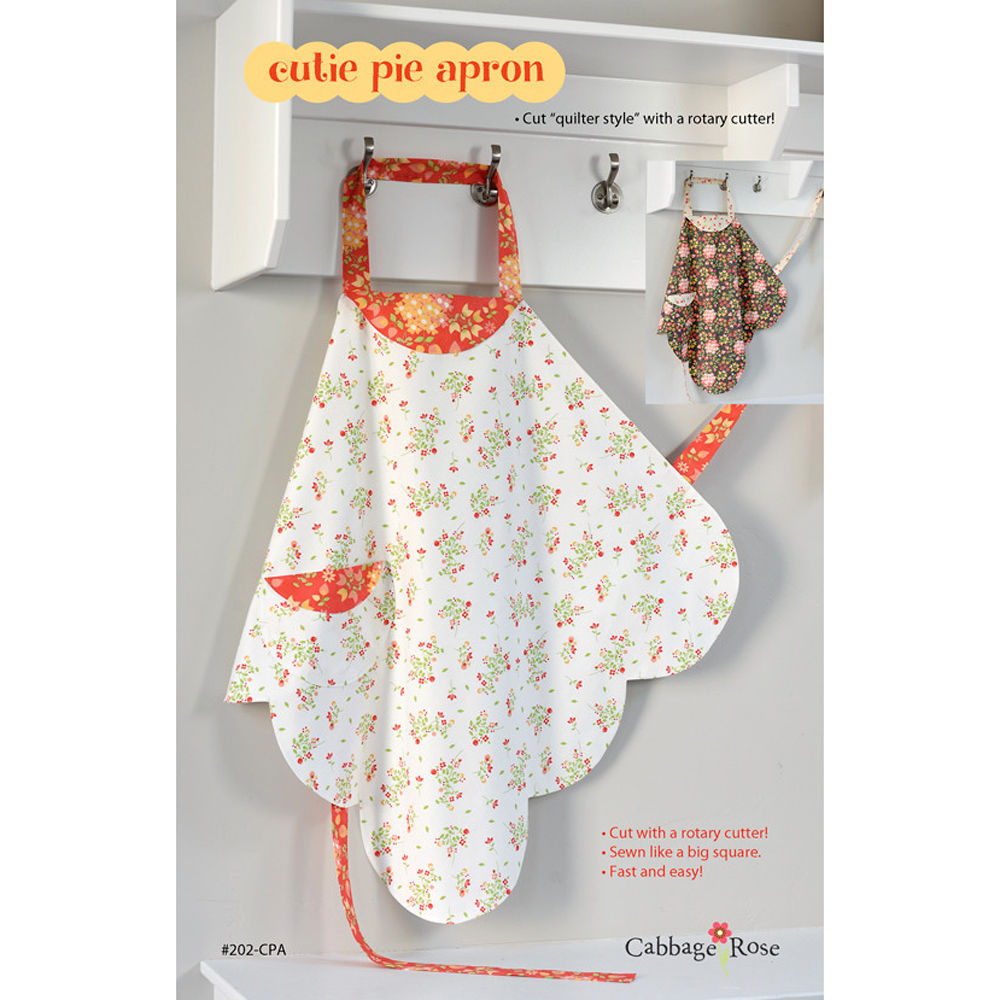 "CABBAGE ROSE ""CUTIE PIE APRON"" Sewing Pattern"