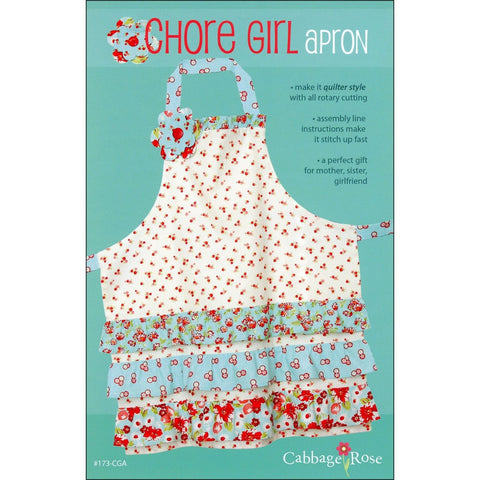 "CABBAGE ROSE ""CHORE GIRL APRON"" Sewing Pattern"