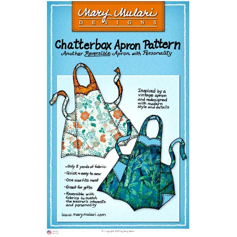 "MARY MULARI DESIGNS ""CHATTERBOX APRON"" Sewing Pattern"