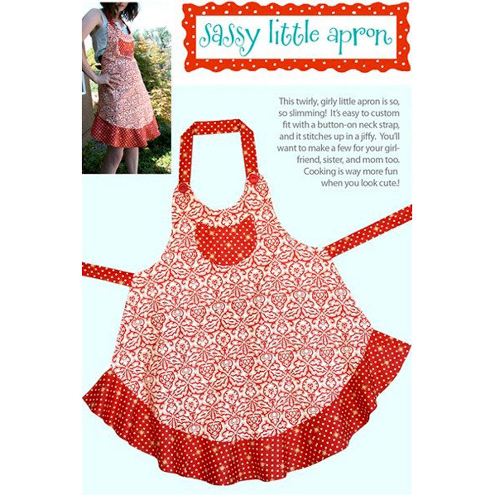 "CABBAGE ROSE ""SASSY LITTLE APRON"" Sewing Pattern"