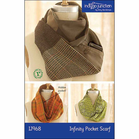 "INDYGO JUNCTION ""INFINITY POCKET SCARF"" Sewing Pattern"
