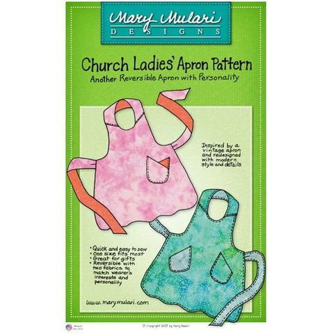 "MARY MULARI DESIGNS ""CHURCH LADIES' APRON"" Sewing Pattern"