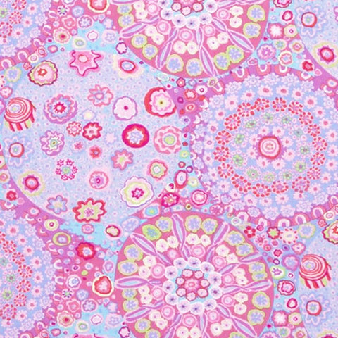 "KAFFE FASSETT ""MILLEFIORE"" GP92 PINK  by the 1/2 yard"