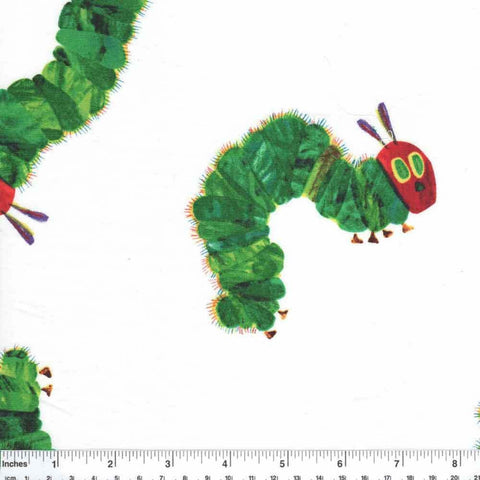 "ANDOVER ""THE VERY HUNGRY CATERPILLAR ENCORE"" LARGE CATERPILLARS Multi by 1/2 yard"