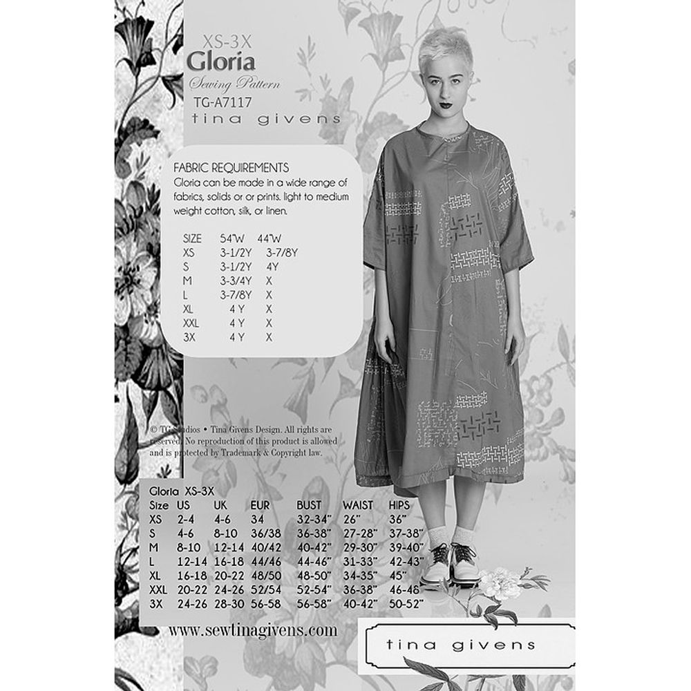 "TINA GIVENS ""GLORIA"" Sewing Pattern"