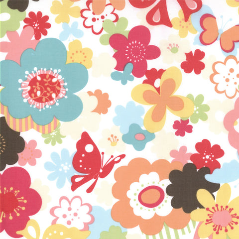 "MODA ""JUST WING IT"" FLORAL Multi by 1/2 yard"