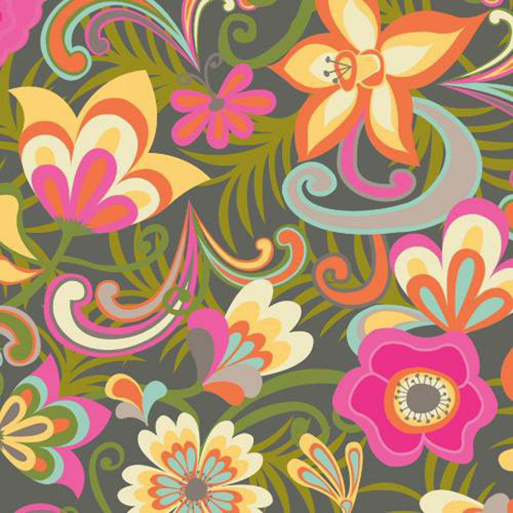 "WINDHAM ""CABANA BLOOMS"" SCROLL FLOWER Multi"