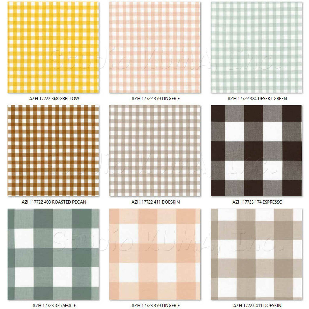 "ROBERT KAUFMAN ""KITCHEN WINDOW WOVEN"" GINGHAM AZH-17722-408 ROASTED PECAN by the 1/2 yard"