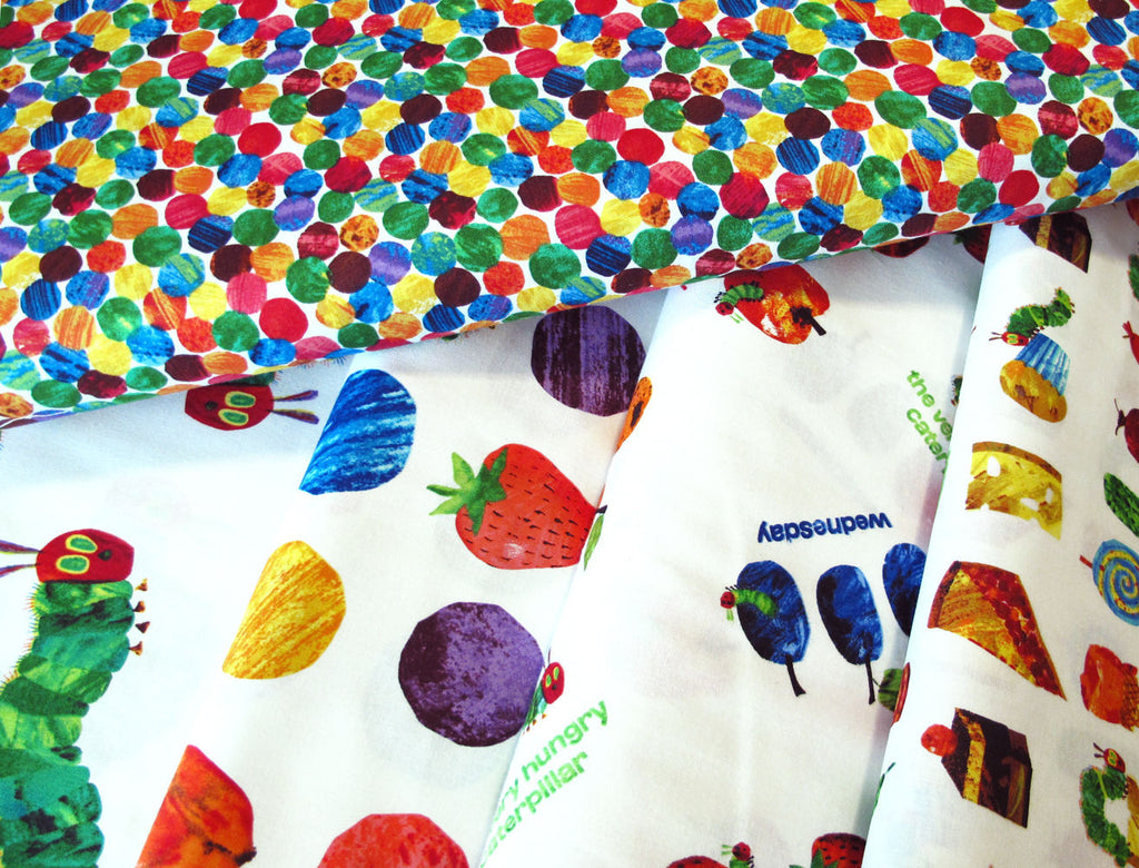 "ANDOVER ""THE VERY HUNGRY CATERPILLAR"" SPOTS P0260-3474-Multi by the 1/2 yard"
