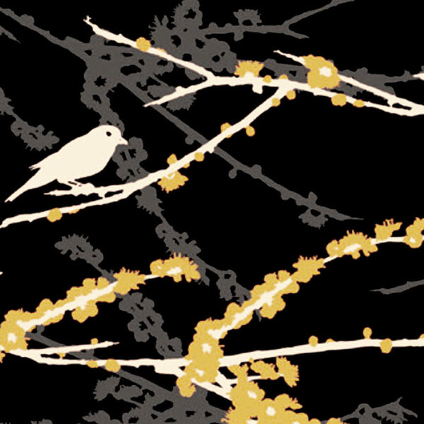 "JOEL DEWBERRY ""AVIARY 2"" SPARROWS Cavern by 1/2 yard"