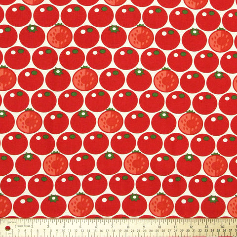 "BLANK ""VEGGIE PATCH"" TOMATO Red by 1/2 yard"