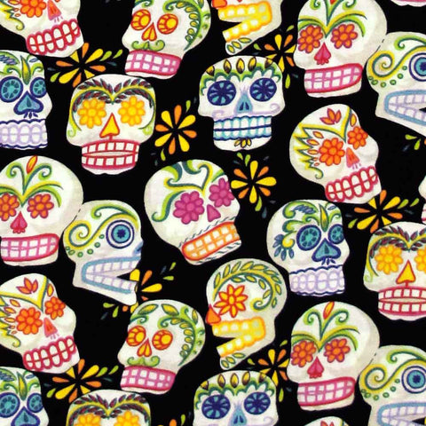 "ALEXANDER HENRY ""MINI CALAVERAS"" Black 23 inches"