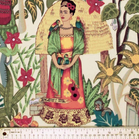 "ALEXANDER HENRY ""FRIDA'S GARDEN"" Tea by 1/2 yard"
