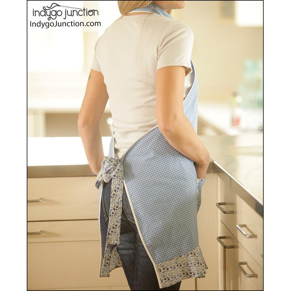 "INDYGO JUNCTION ""KITCHEN SHIRT TALES RECYCLED APRON"" Sewing Pattern"