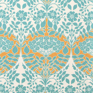"JOEL DEWBERRY ""BOTANIQUE"" LEAFY DAMASK Teal"