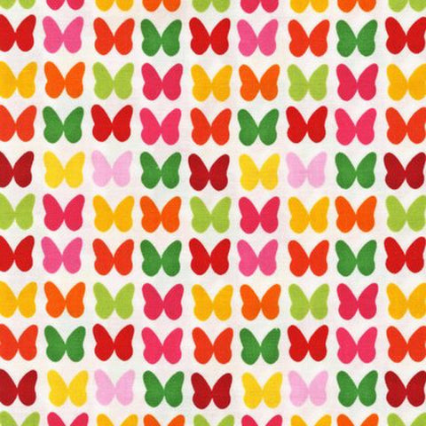 "ROBERT KAUFMAN ""REMIX"" BUTTERFLY Garden by 1/2 yard"