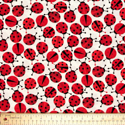 "ROBERT KAUFMAN ""URBAN ZOOLOGIE"" LADYBUG Red 33 inches"