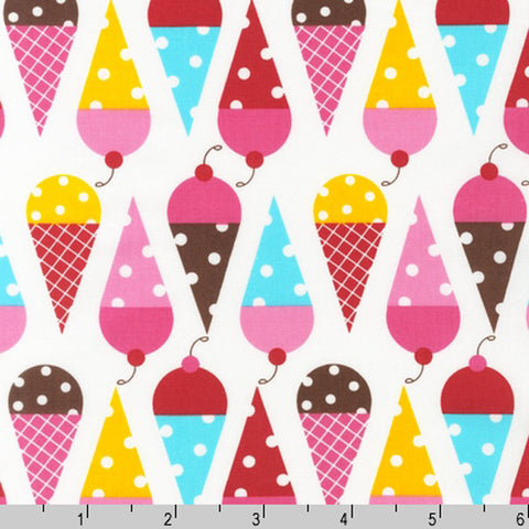 "ROBERT KAUFMAN ""DESSERT PARTY"" CONE Summer BY 1/2 YARD"