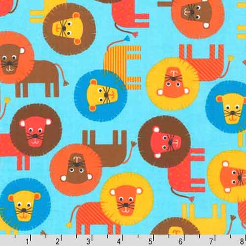 "ROBERT KAUFMAN ""URBAN ZOOLOGIE"" LION Bermuda BY 1/2 YARD"