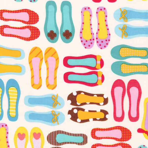 "ROBERT KAUFMAN ""THIS AND THAT"" SLIPPERS Sweet BY 1/2 YARD"