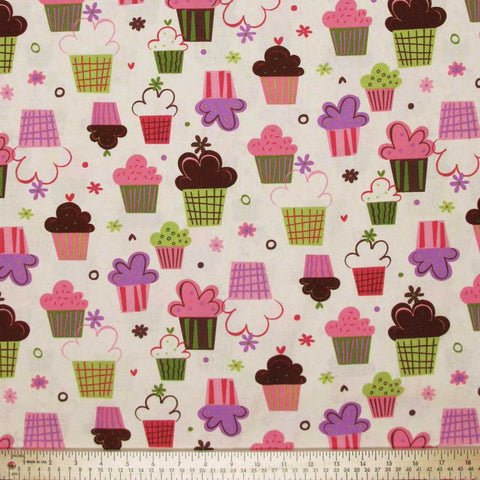 "ROBERT KAUFMAN ""CONFECTIONS"" SWEET CUP Vanilla by 1/2 yard"