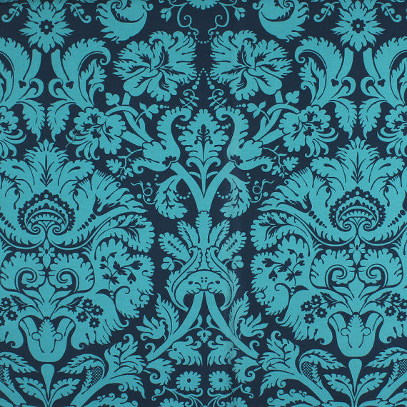"AMY BUTLER ""BELLE"" ACANTHUS Teal by 1/2 yard"