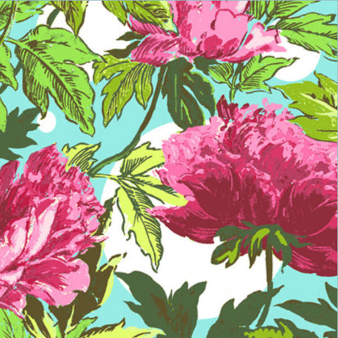 "AMY BUTLER ""SOUL BLOSSOMS"" TWILIGHT PEONY Amaranth 26 inches"