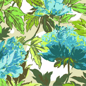"AMY BUTLER ""SOUL BLOSSOMS"" TWILIGHT PEONY Azure 25.5 inches"