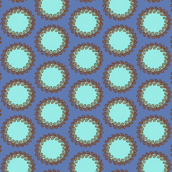 "AMY BUTLER ""SOUL BLOSSOMS"" LAUREL DOTS Periwinkle 1 yard 21 inches"