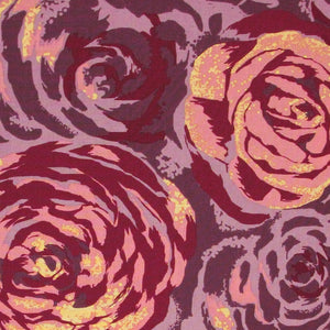 "FREE SPIRIT ""INNOCENT CRUSH"" TURN OF EVENTS Plum by 1/2 yard"