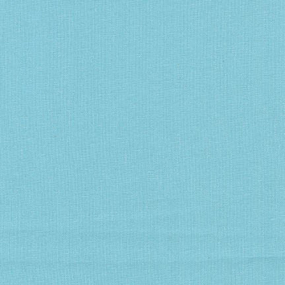 "ROBERT KAUFMAN ""ESSEX"" Linen Cotton Blend AQUA by the 1/2 yard"
