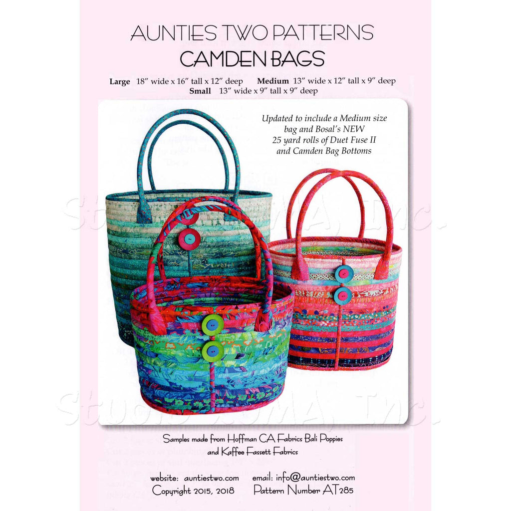"AUNTIES TWO ""CAMDEN BAGS (New Version)"" Sewing Pattern"