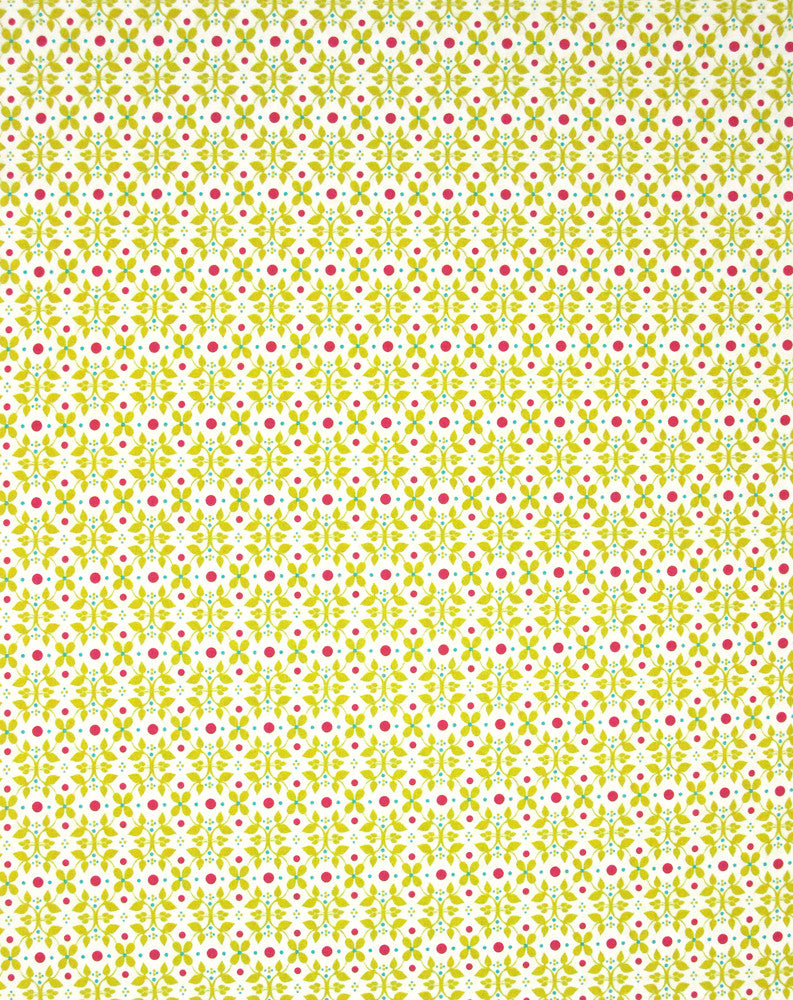 "ROBERT KAUFMAN ""MODERN WHIMSY"" VINE Meadow BY 1/2 YARD"