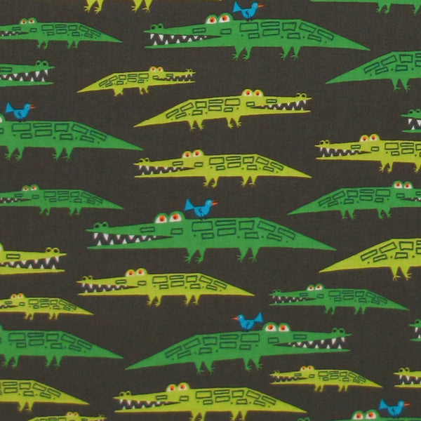 "CLOUD 9 ""HAPPY DRAWING"" ALLIGATORS ORGANIC COTTON 15.5 inches"