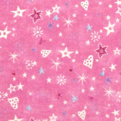 "NORTHCOTT ""TEA TIME FAIRIES"" STARS Pink by 1/2 yard"