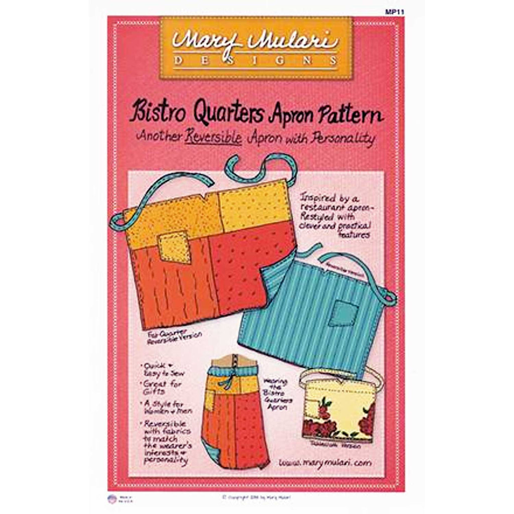"MARY MULARI DESIGNS ""BISTRO QUARTERS APRON"" Sewing Pattern"
