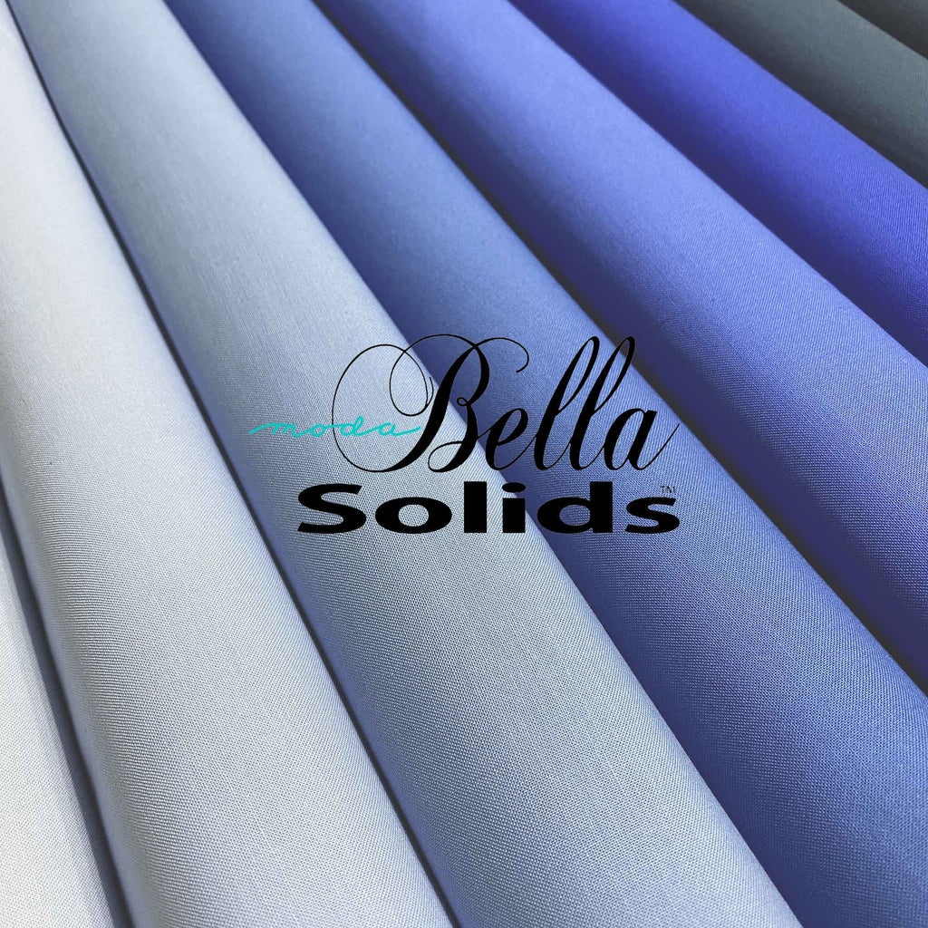 "MODA ""BELLA 9900"" SOLID COTTON Blue Tone Group 1 by the 1/2 yard"