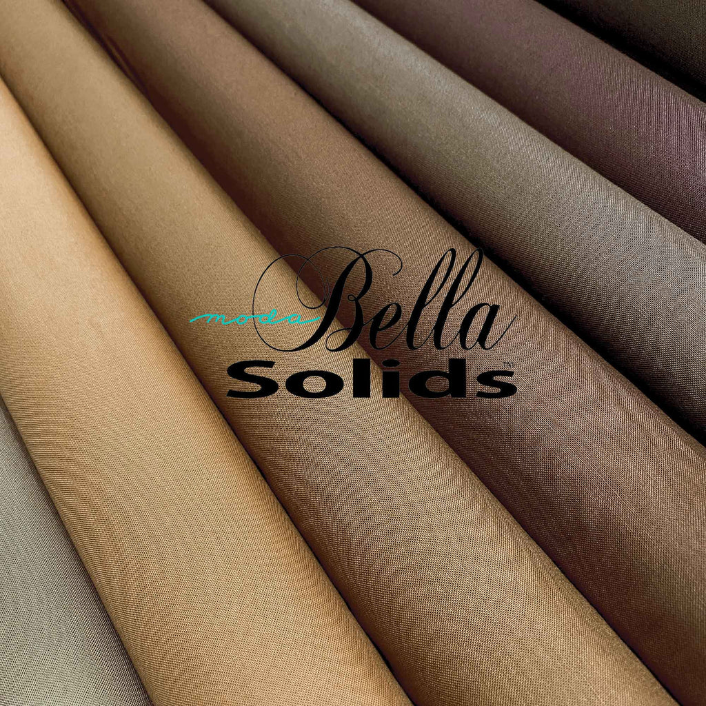 "MODA ""BELLA 9900"" SOLID COTTON Brown Tone by the 1/2 yard"