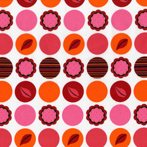 "MICHAEL MILLER ""MOD DOTS"" Paprika by 1/2 yard"