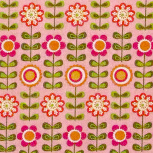"RILEY BLAKE ""SUMMER SONG"" SUMMER FLOWERS Pink by 1/2 yard"